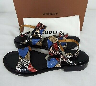 Audley Women's Sandals - Snake Skin Style Pattern - EUR Size 38 +36 - New In Box • 50£