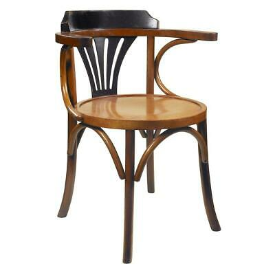 AU799 • Buy Navy Solid Timber Dining Chair Black Honey