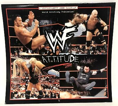 $ CDN26.12 • Buy 2000 WWF Wrestling Attitude 16 Month Calendar Rock Undertaker Chyna Sable Kane