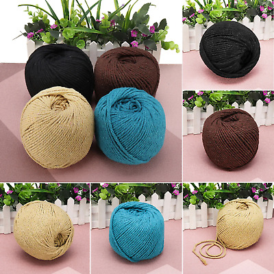 AU24.20 • Buy 4mm 110m Natural Cotton Twisted Cord Rope Macrame Linen String Artisan Craft New