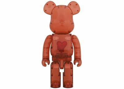 $4000 • Buy Bearbrick 1000% Emotionally Unavailable Clear Red Heart
