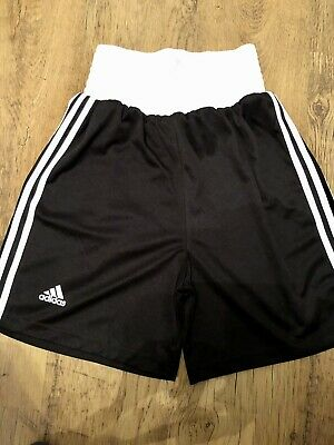 Adidas Boxing Shorts XS/S 28-30 Inch Waist. Black/white Excellent Condition • 13.99£