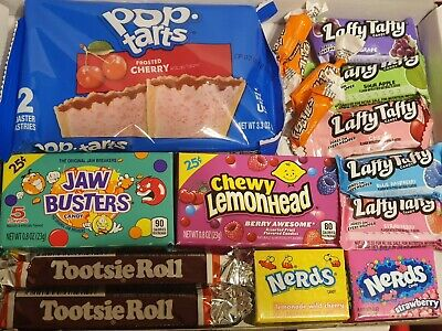 Kellogs Pop Tarts Frosted Cherry American Sweets Gift Box-Retro Candy Hamper • 5.49£