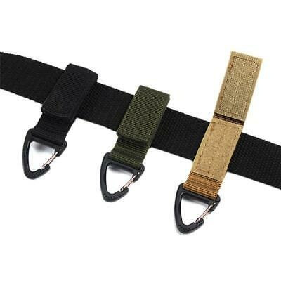 Military Outdoor Nylon Key Hook Webbing Molle Buckle Hanging Belt Carabiner Clip • 2.42£
