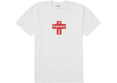$ CDN165.85 • Buy BRAND NEW IN HAND Supreme Cross Box Logo Tee White Size Medium FAST SHIP 🔥