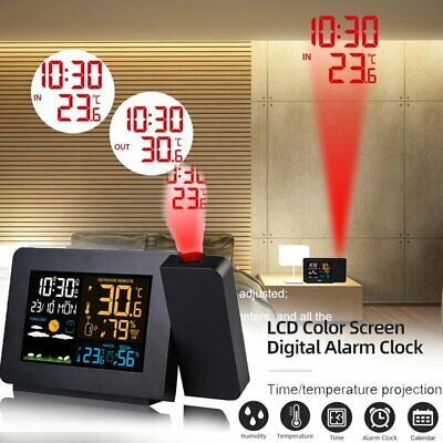 AU61.54 • Buy Smart Digital LED Projection Alarm Clock Time Temperature Projector LCD Display