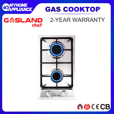 AU199 • Buy GASLAND Chef 30cm Gas Cooktop Stainless Steel NG With LPG Conversion 2 Burner