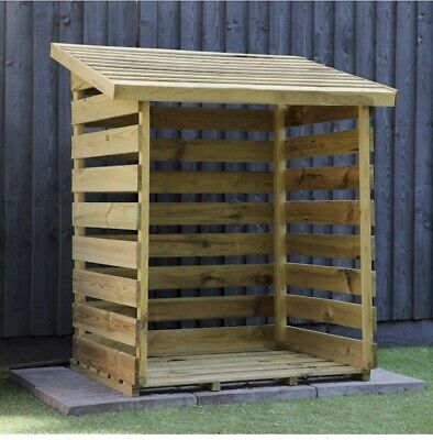 LOG STORE STORAGE  STORE WOODEN TIMBER  Brown Any Other  Sizes Please Enquire. • 72£
