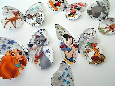 Disney 3d Butterflies Wall Stickers For Childrens Room Jungle Book,Minnie Mouse • 12£