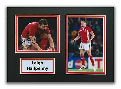 £34.99 • Buy Leigh Halfpenny Hand Signed A4 Mounted Photo Display - Wales Rugby Autograph 1