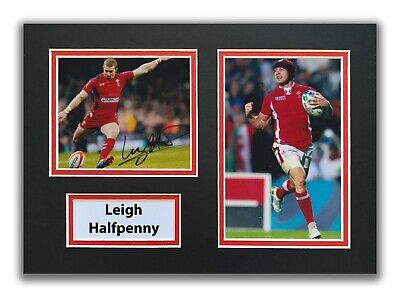 £34.99 • Buy Leigh Halfpenny Hand Signed A4 Mounted Photo Display - Wales Rugby Autograph 3