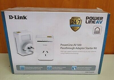 AU59.99 • Buy D-Link Powerline AV 500 Passthrough Adapter Starter Kit New DHP-P309AV