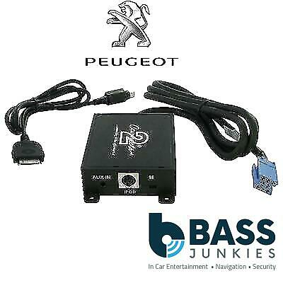 Peugeot 307 2002-2005 Car Radio Stereo IPod IPhone & Aux In Interface Adaptor • 39.99£