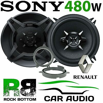 Renault Twingo 2007-2012 SONY 13cm 480 Watts 3 Way Front Door Car Speaker Kit • 39.99£