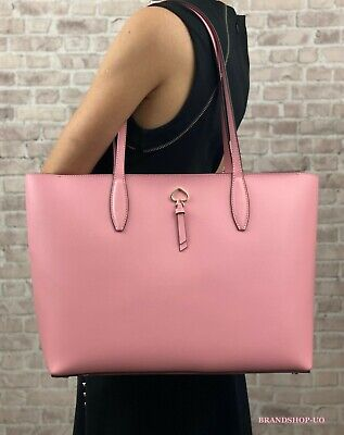 $ CDN139.21 • Buy KATE SPADE NEW YORK ADEL LEATHER LARGE TOTE SHOULDER BAG $329 Pink