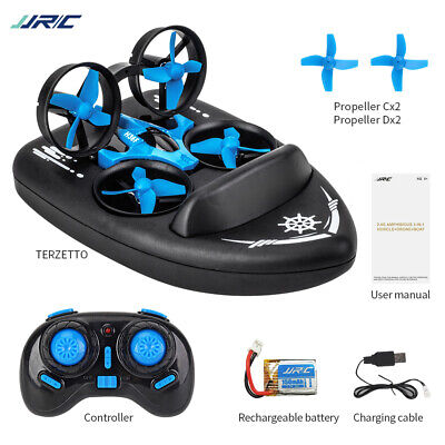AU37.79 • Buy JJRC H36F TERZETTO 3 In 1 Drone Boat Car RC Quadcopter Gift For Kids M4H2