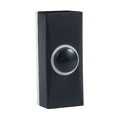 Byron 7900 Wired Replacement/Extra Door Bell Push Button - Black • 3.29£