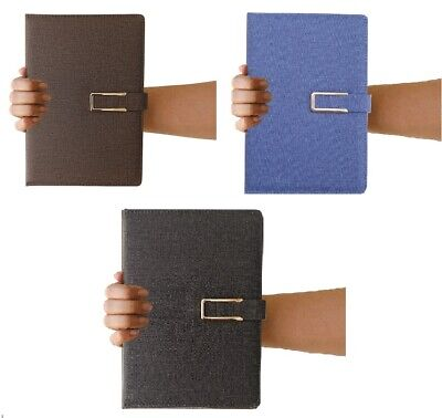 A5 Hardback Fabric Lined Notebook Notepad Notes Journal Diary School Office Gift • 6.99£