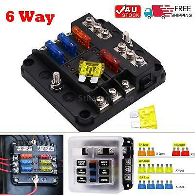 AU20.88 • Buy 19Pcs 6 Way Blade Fuse Box Block Holder LED Light 12V 32V Car Truck Marine
