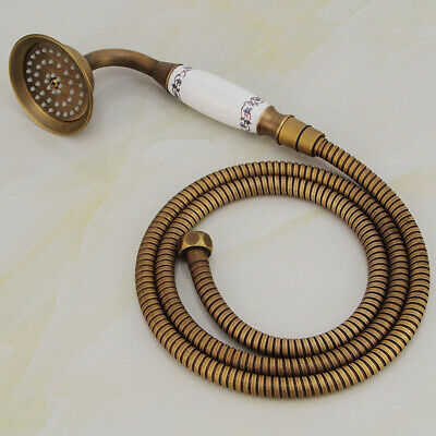 £19.99 • Buy Vintage Antique Brass Telephone Hand Held Shower Head Set With 1.5M Hose