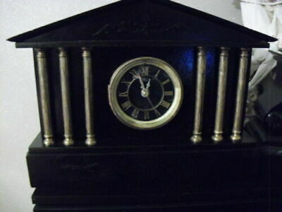 Victorian Slate/marble Mantle Clock Converted To Quartz Batt • 85£
