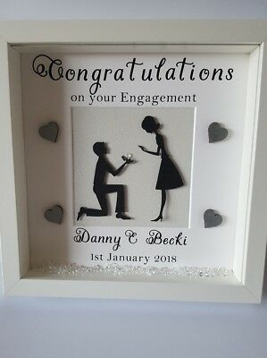 Personalised Picture Frame Engaged Engagement Gift Present  • 17.50£