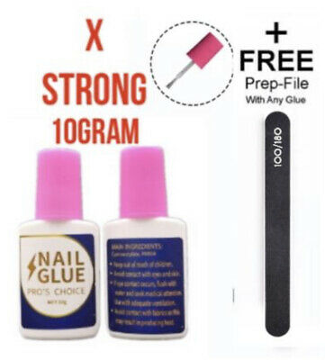 £3.45 • Buy EXTRA STRONG PROFESSIONAL NAIL GLUE 💅 10 GRAM WITH BRUSH 💅 Art Tips Acrylic💅