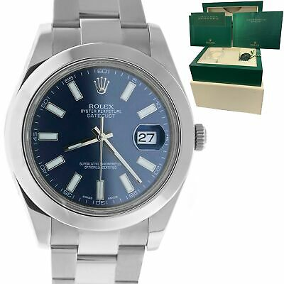 $ CDN10347.17 • Buy MINT Rolex DateJust II Blue Smooth Stainless Steel 41mm Oyster Watch 116300