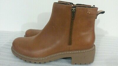 Clarks Frankie Roam Womens Tan Brown Leather Chelsea Ankle Boots Uk Size 7 • 40£