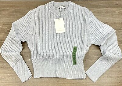 AU27.06 • Buy Pull And Bear Womens Size Xs Light Grey Knit Sweater Long Sleeve New With Tags