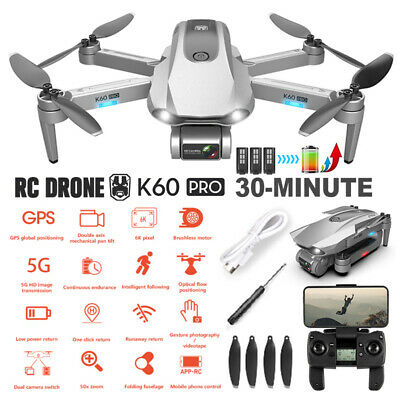 AU240.99 • Buy 5G 6K GPS Drone X Pro With HD Dual Camera Drones WiFi FPV Foldable RC Quadcopter