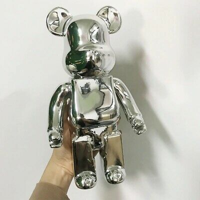 $209.99 • Buy NEW Medicom Bearbrick Gold Grey 400% Be@rbrick Vinyl Art Craft Hot 2020 Gift Toy