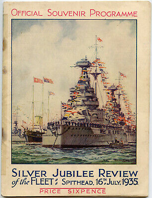 £45 • Buy 1935 SILVER JUBILEE NAVY FLEET REVIEW 50 PAGE OFFICIAL PROGRAMME KING GEORGE 5th