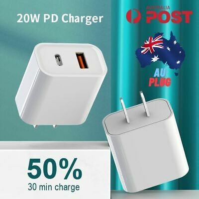 AU6.99 • Buy AU Plug PD 20W USB-C Type C Fast Wall Charger Adapter For IPhone 12 11 Pro Max