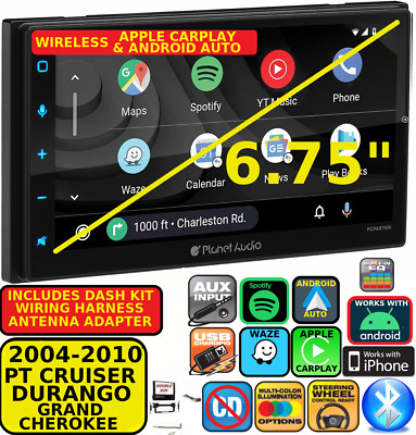 $419.99 • Buy 04-10 Pt Cruiser Durango Grand Cherokee Wireless Carplay Android Auto Car Stereo