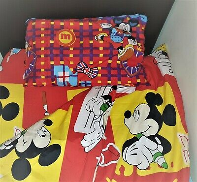 £11.99 • Buy Mickey Childrens Duvet Cover Pillowcase Sets Toddler Cot Bed Kids Single Bedding