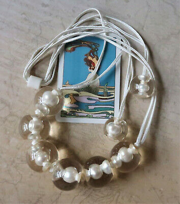 AU40 • Buy *Zsiska Hand Crafted White Pearl & Clear Resin Adjustable Necklace