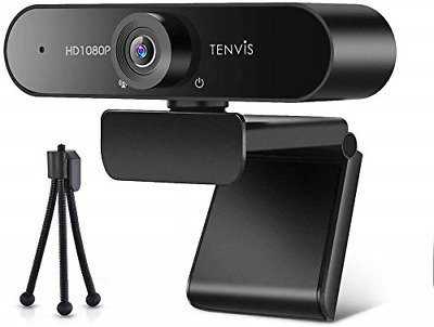 £39.90 • Buy TENVIS 1080P Webcam FULL HD Webcam With 120° Wide Angle, Streaming Camera With &