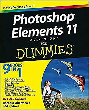 £4.33 • Buy Photoshop Elements 11 All-In-One For Dummies Paperback Barbara Obermeier
