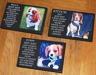 Personalised Remembrance Plaque Photo Pet Dog Puppy Memorial Wooden Indoor Sign • 7.90£