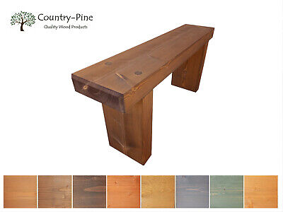 £89.95 • Buy Rustic Slow Growth Pine Garden Bench   9X3 Rustic Treated Wood Solid Pine