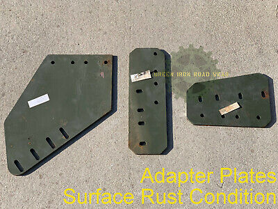$230 • Buy NOS M66 Gun Ring Leg Mount Adapter Plates, Military Vehicle Surface Rust Cond.