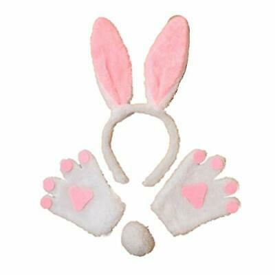 £6.95 • Buy Bunny Rabbit Ears Hair Band Tail And Mittens Set Fancy Dress Party Hen Child