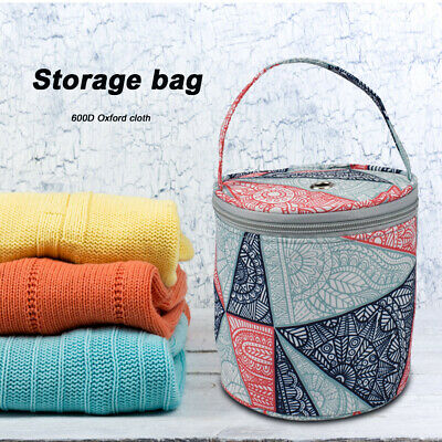 Oxford Cloth Geometric Wool Yarn Tote DIY Crochet Hook Storage Knitting Bag • 8.89£