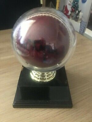 AU45 • Buy Michael Kasprowicz Signed Cricket Ball In Display Case.