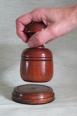 £25.99 • Buy Large Palm Gavel And Block Rosewood Wood Wooden Auctioneer Best Man Masonic