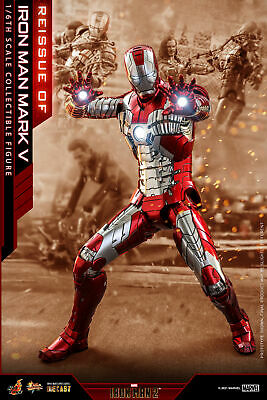 $ CDN578.60 • Buy Hot Toys Iron Man 2 1/6th Scale Mark V Diecast Collectible Figure MMS400D18B