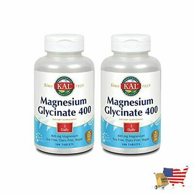 £53.75 • Buy Magnesium Glycinate 400 Vegan Chelated Non Gmo Soy Dairy Gluten Free 2 Pack 90 S