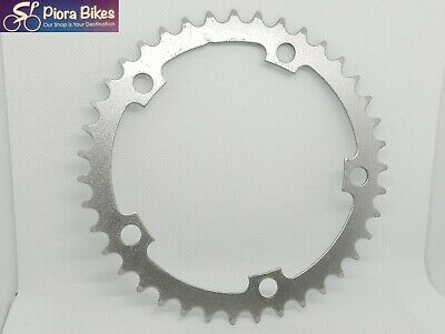 Silver Steel Bicycle Chainring 39T 130 Mm BCD 5 Bolts • 23.99£