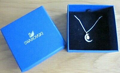 AU54.10 • Buy Swarovski Crystal Cresent Moon Pendant With Crystal Teardrop Boxed Unwanted Gift